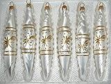 6 tlg. Glas-Zapfen Set in