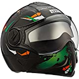 Studds Full Face Helmet Downtown D2 (Black N10, L)