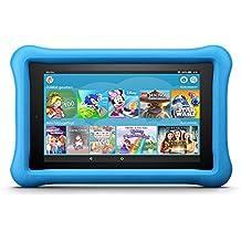 Fire 7 Kids Edition-Tablet, 17,7 cm (7 Zoll) Display, 16 GB, blaue kindgerechte Hülle