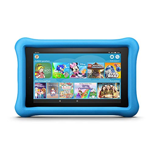 Fire 7 Kids Edition-Tablet, 17,7 cm (7 Zoll) Display, 16 GB, blaue kindgerechte Hülle (vorherige Generation - 7.) (Best Tech Kostüm)