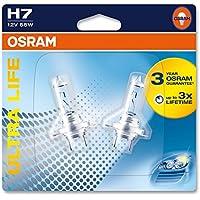 Osram 64210 Ultra Life Lámpara H7 - Faro de Carretera, PX26d, 55 W, 12 V, Blíster Doble