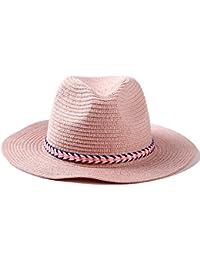 Women s Sun Straw Hat Wide Brim Caps Foldable Summer Beach Hat f80bc6839eaa