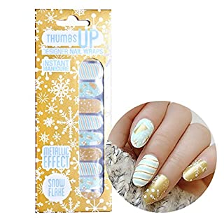 ThumbsUp Nägel Schneeflocken Weihnachten Festive Nail Wraps/Adhesive/Nail Polish Strips/Full Deckung Nail Art-Sticker/20Packungen pro Pack