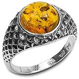 Bernstein Sterling Silber Round Ring