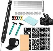 Hand Poke and Stick tato-o Kit DIY tato-o Supply Ink Gloves and Inkbox tato-o Needles Set Includes 3RL / 5RL /