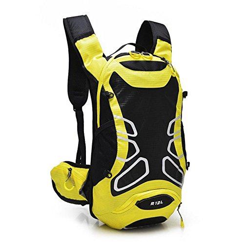 MASLEID Fahrrad Rucksack outdoor leichte wasserdichte Männer und Frauen professionelle Radsport im freien Wasser Tasche Rucksack Fahrrad Helm Seesack 12L Yellow
