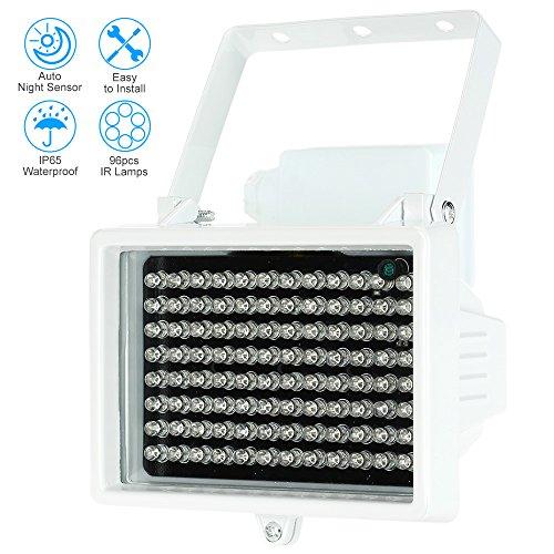 icht 96 LEDs IR-Strahler CCTV-Kamera-Nachtsicht Night Vision Outdoor Wasserdicht für Überwachungskamera ()