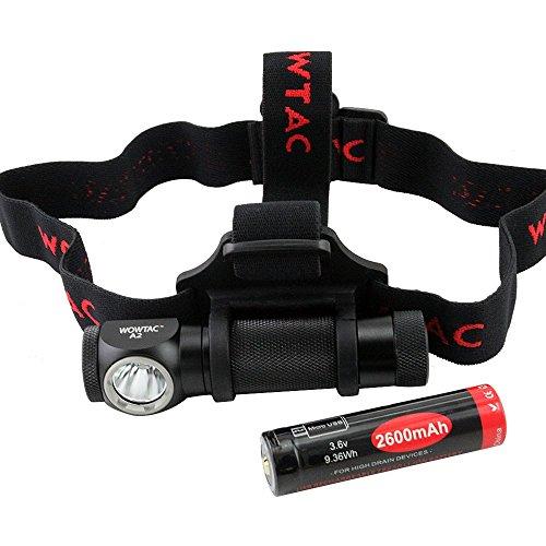 Wowtac® A2 Superheller LED Stirnlampe LED Kopflampe CREE XP-G2 LED 5 Helligkeiten zu wahlen, Max 550 Lumen, LED Stirnlampen, LED Kopflampen, Kopfleuchten, inklusive 1 x USB 18650 2600mAh Akku