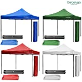 GAZEBO PLEGABLE 3 X 3 M PLEGABLE MERCADO TOLDO TOP BOLSA PLEGABLE, blanco