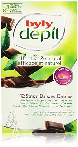 Byly Depil Strisce depilatorie, Cioccolato - 12 unità