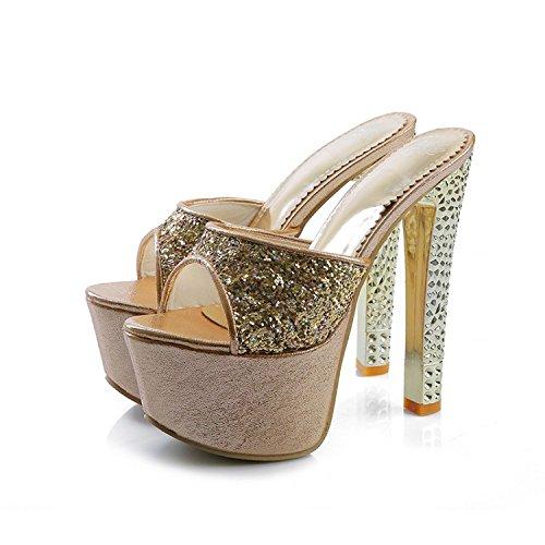 ZYUSHIZ Frau Occidental im minimalistischen Stil Sandalen High-Heel 35EU