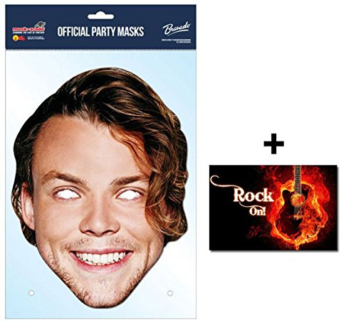 Film Kostüme Australia (Ashton Irwin 5 Seconds of Summer Single Karte Partei Gesichtsmasken (Maske) Enthält 6X4 (15X10Cm))