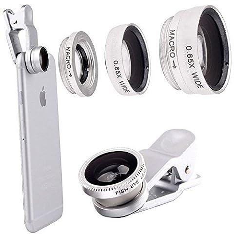 toogou [Version mise à jour] Clip sur Objectif Fish Eye 180° + objectif macro grand angle + 10x 0,65x 3en 1Lentille pour Caméra pour iPhone 6/6Plus, iPhone 5/5S/5C/4/7S Samsung Blackberry