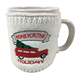 Kaffeetasse mit weihnachtlichem Weihnachts-Pullover, extragroß, Weiß