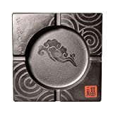 JLZS Wujinshi Aschenbecher Kreative Persönlichkeit Wohnzimmer Couchtisch Hause Retro Chinesischen Stein Marmor Kopf Aschenbecher (Farbe : A)