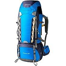 Mountaintop 60L Mochila de Senderismo Impermeable Multifunciona Backpack / trekking bolsa de mochilero / Escalada Mochila / Mochila de camping / mochila de viaje para el alpinismo con cubierta de la lluvia-651II 76 x 36 x 26 cm