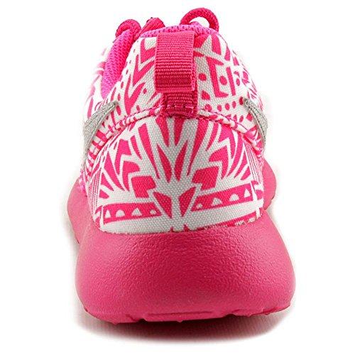 Nike Roshe One Print (GS) (677784-100) white-metallic silver-vivid pink-pink pow