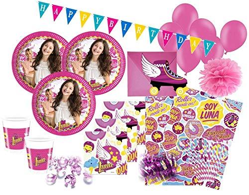 XXL 76 Teile Disney's Soy Luna Party Set für 6-8 Kinder (76 Stück Geschirr Set)