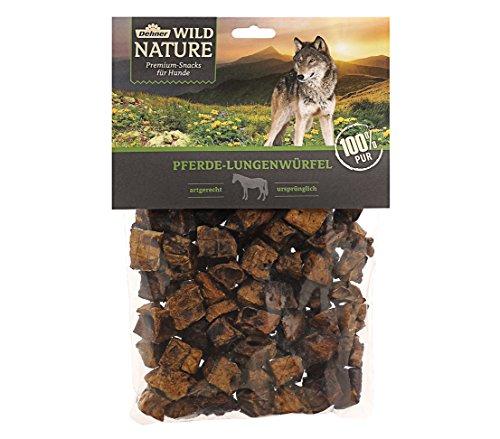 Dehner Wild Nature Hundesnack, Pferde-Lungenwürfel, naturbelassen, 200 g