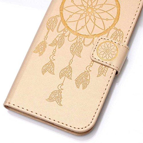 Mo-Beauty, Borsa a spalla donna Gold,Skull Samsung Galaxy S6 Edge Gold,Wind chimes