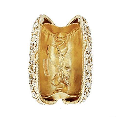 Onorevoli Di Lusso Banchetto Sacchetto Di Sera Borsa Diamanti Frizione Trousse A