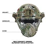 OneTigris Taktische Helm mit Maske und Schutzbrille für Softair(MC) - 2