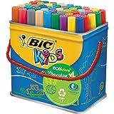 BiC Kids Ecolutions Visacolor XL Assorted Colouring Felt Tip Pens (Pack of 48)