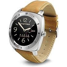 Megadream® Sport Bluetooth Smart Watch Bracciale Fitness Tracker Wristband Pedometro Monitoraggio della frequenza cardiaca Monitor Salute monitoraggio sonno Call ID promemoria visualizzazione orologio Fitness Tracker con Multi Superficie UI e Ghiere per telefono Android, iOS