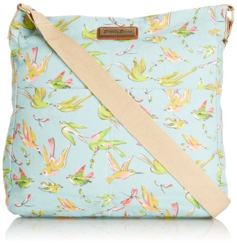 SWANKYSWANS Girls Bella Bird Print Crossbody Bag GR Wallet K825-L Green