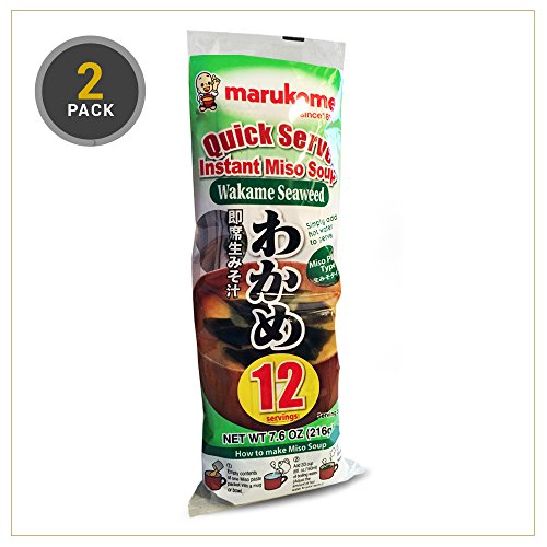 Marukome Instant Miso Soup Paste Sachets With Wakame 12x18g (24 Sachets) ...