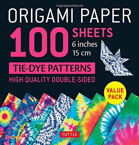 Origami Paper 100 Sheets Tie Dye Patterns