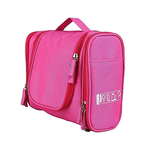 Unisex Damen Herrn Kulturtasche Kulturbeutel hängend Multifunktionale Kosmetiktasche Toilet Bag Wash Bag für Reise (Pink)