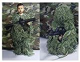 ATR Tuta da cecchino, 3D Camo Adatta per Sniper Woodland Esercito Militare Tiro a Segno Fucile ad Aria compressa Fotografia, Colore Giungla, Tuta a Cinque Pezzi Colore Giungla (Dimensioni: Adulto)