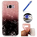 Coque Etui Housse pour Samsung Galaxy S8 Coque Silicone Marbre, Etsue Samsung Galaxy S8 Silicone Transparent avec Motif Marbre Design Créatif Souple TPU Gel Bumper Etui Protecteur Caoutchouc Rubber Gel Cases Haute qualité Cas Flexible Couverture Protection Couleur de épissure Ultra Slim Mince Crystal Clear Housse Etui Case Cover Coque de protection Samsung Galaxy S8 (Série Marbre ) - Mandala Fleur