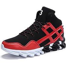 scarpe rosse uomo alte pelle