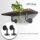 KING DO WAY 2PCS Pipe Shelf Bracket 15x10cm Industrial Shelf Bracket for Book Shop Shelf Shose Shop Shelf Custom shelves Floating Shelves Plumbing Pipe Shelf Restoration Hardware Shelf Black
