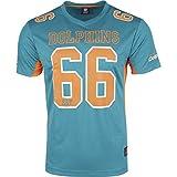 Majestic NFL Mesh Polyester Jersey Shirt - Miami Dolphins, Größe M, Farbe Aqua