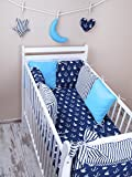 Amilian® Baby Nestchen Bettumrandung 210 cm Design52 Bettnestchen Kantenschutz Kopfschutz für Babybett Bettausstattung