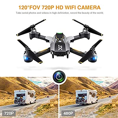Atoyscasa Drone with Camera Live Video, FPV RC Drone with 720P HD Wi-Fi Camera 2.4GHz 6-Axis Gyro Quadcopter for Kids Beginners with Altitude Hold, Headless Mode, One Key Take Off and Landing