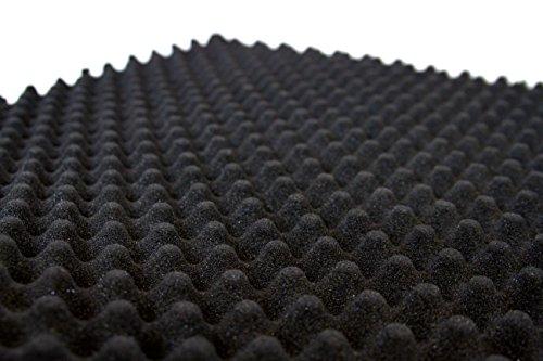 Car Insulation UK - Juego de láminas de espuma de aislamiento acústico, con perfil de huevera, 1 m x 2 m, 30 mm de grosor, ignífugas, 2 unidades, color gris