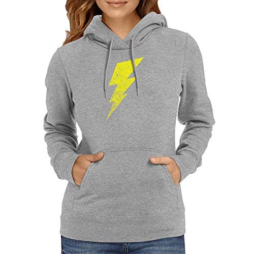 Flash - Damen Kapuzenpullover, Größe XL, grau meliert (The Big Bang Theory Superhelden Kostüme)