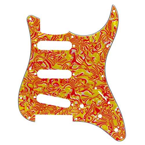 IKN 3 de la capa SSS Pickguard de Fender Squier SQ guitarra eléctrica, concha roja 11 agujeros con tornillos