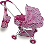 Sohler By Eurotrade W Rexco Childrens Kids Deluxe Baby Doll Pushchair Pram With Storage Basket Handbag Pretend Role Play Toy Accessories Game Girls Xmas Gift 2002727