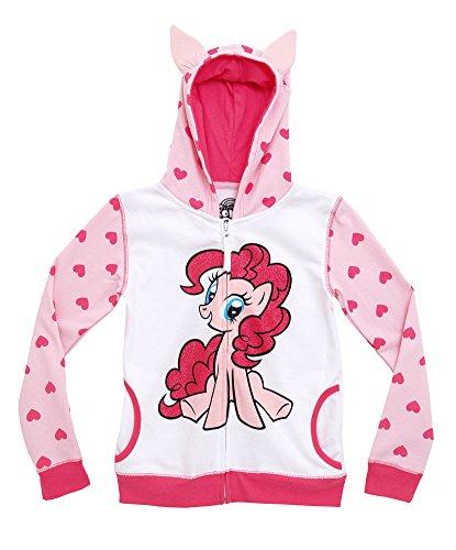 My Little Pony Pinkie Pie Big Girls Heart Zipup Costume Hoodie Hooded Sweatshirt