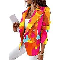 shownicer Blazer Donna Elegante Manica Lunga Scollo a V Giacca Moda ClassicoTintura per Cravatta Giacche Casual Ufficio…