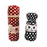#7: First Trend Baby Feeding Bottle Cover with Soft & Attractive Fancy Cartoon Set of 2 Colors & Designs : Pouch and Zipper