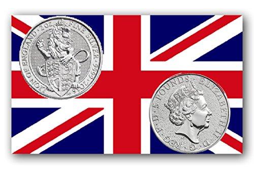 The Queen's Beasts - Moneta commemorativa britannica, 2016, 2 oz, in argento - Serie 2 Coin