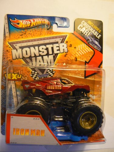 Hot Wheels Monster Jam Iron Man Includes Crushable Car