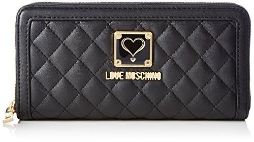 love-moschino-jc5501-portefeuille-femme-noir-black-3x10x20-cm