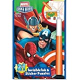 Marvel Heros: Justice for all 2in1 Invisible Ink and Sticker Puzzle Book by Lee Publications